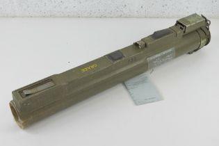 A deactivated M72 LAW 66mm rocket launcher. Opens and closes. UK deactivation cert.