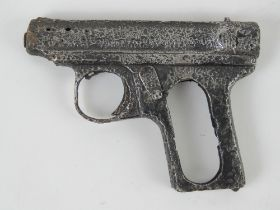 A Sauer 1913 pistol in relic condition, found in the Kurland Pocket (Latvia).