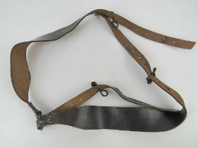 A rare set of WWI French combat Y-straps, bearing Le Berre markings upon and dated 1916.