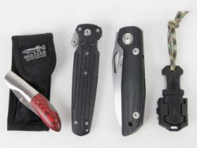 A quantity of assorted pocket knives inc; Jack Pyke, Free Viper, Gerber knife, and five others.