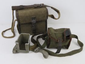 A ZB 26-30 magazine loader in pouch together with a canvas magazine box.