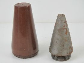 A WWII German Bakelite pot with an AZ23 inert fuse, the pot is dated 1939.