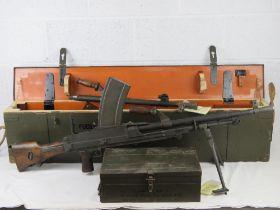 A rare Italian Breda Bren gun set having all matching numbers; a deactivated Italian Breda Bren .