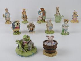 Beatrix Potter Beswick figurines each bearing B brown back stamp.