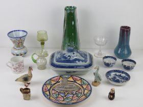 A quantity of assorted ceramics and glassware inc a commemorative Diamond Jubilee year Queen