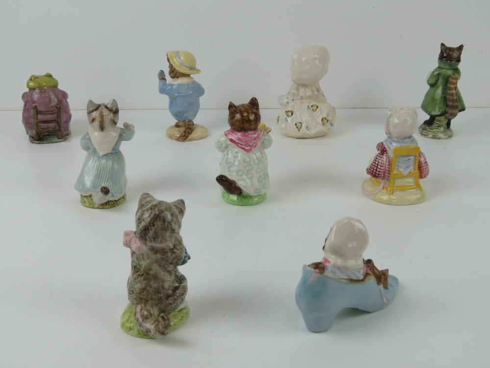 Beatrix Potter Beswick figurines each having brown back stamp. - Image 2 of 7