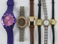 A quantity of vintage and contemporary wrist watches including Sekonda, Timex,