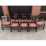 A good set of eight (6 + 2) mahogany dining chairs,