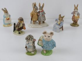 Beatrix Potter Beswick figurines having assorted back stamps including 'John Beswick' signature