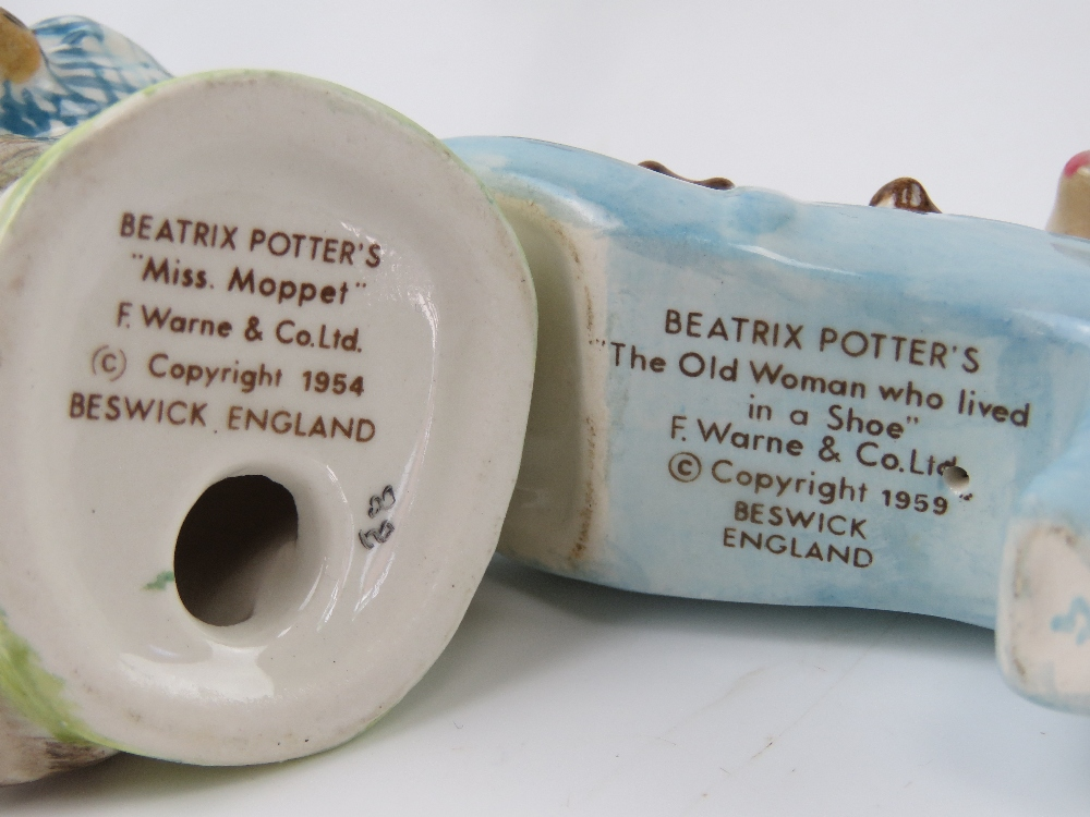 Beatrix Potter Beswick figurines each having brown back stamp. - Image 3 of 7