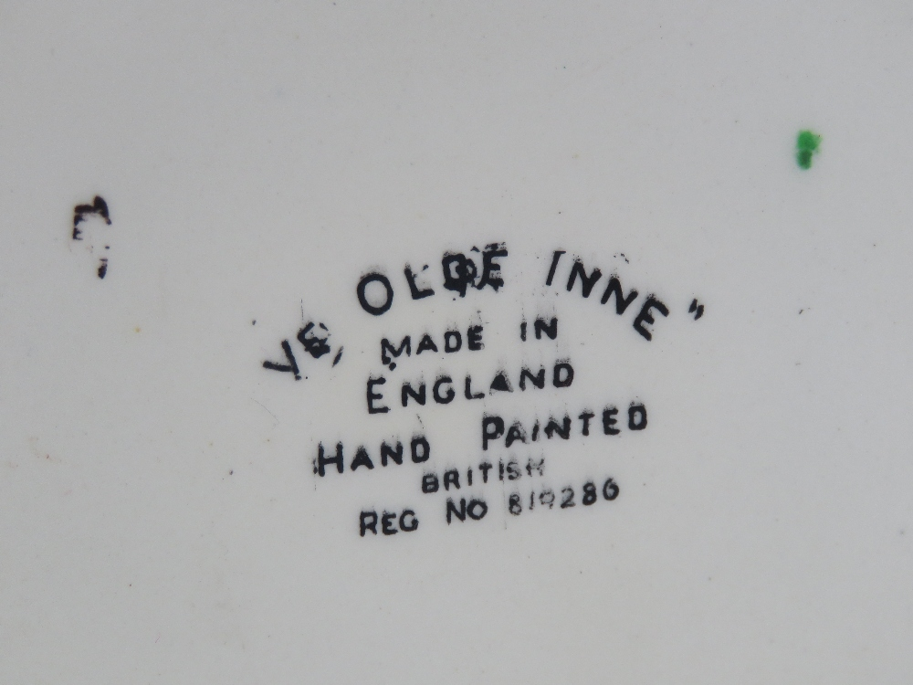 A hand painted ceramic wafer / biscuit barrel in the form of a beamed house 'Ye Olde Inne'. - Image 3 of 4