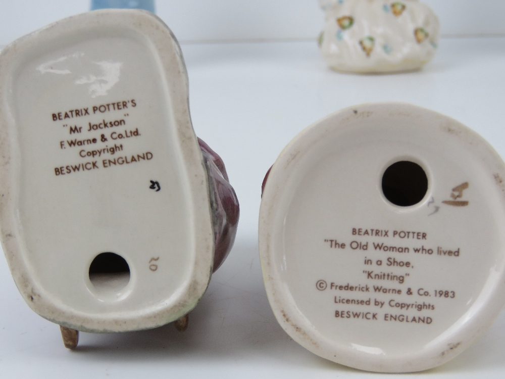 Beatrix Potter Beswick figurines each having brown back stamp. - Image 5 of 7