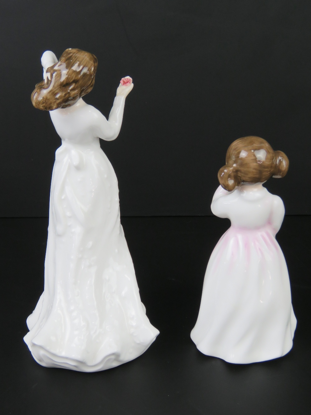 Two Royal Doulton figurines; HN3435 Daddys Girl, 11cm high, and HN3393 With Love, 15cm high. - Image 2 of 4