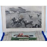 A silk 'handkerchief' (scarf) dated 1959 depicting winners of the Derby from the commencement in