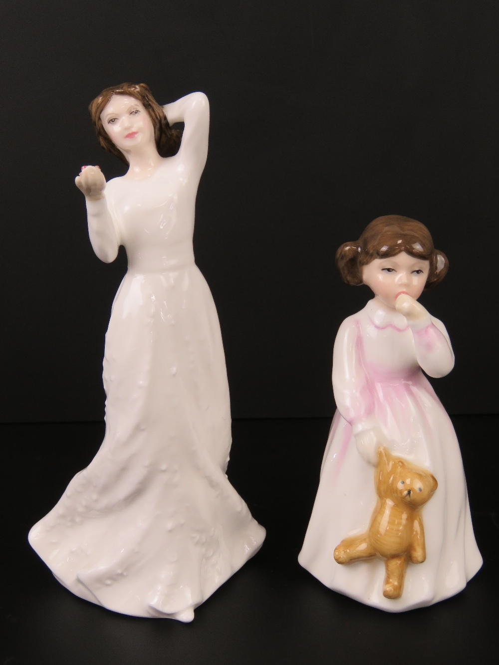 Two Royal Doulton figurines; HN3435 Daddys Girl, 11cm high, and HN3393 With Love, 15cm high.