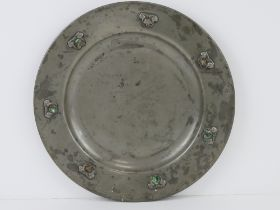 A Liberty & Co Tudric pewter plate, early 20th century,