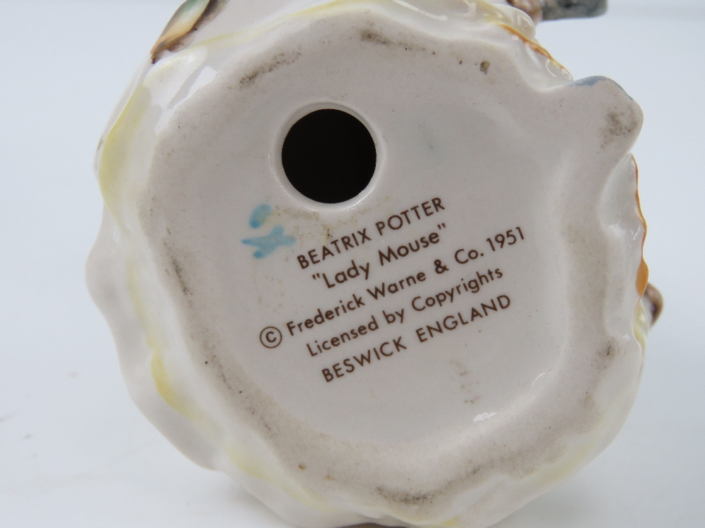 Beatrix Potter Beswick figurines each having brown back stamp. - Image 7 of 7