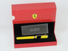 An Official Ferrari Shaeffer ball point pen in original box.