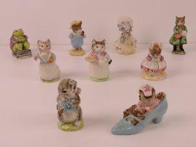 Beatrix Potter Beswick figurines each having brown back stamp.