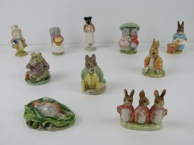 Beatrix Potter Beswick figurines each bearing brown back stamp.