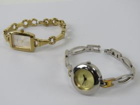 Two Guess ladies wristwatches.