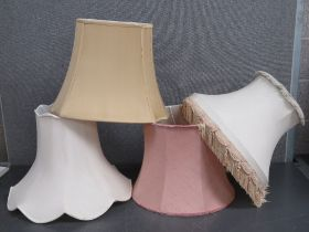Four assorted large lamp shades, 52cm, 4