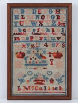 A late 19th century needlepoint sampler,