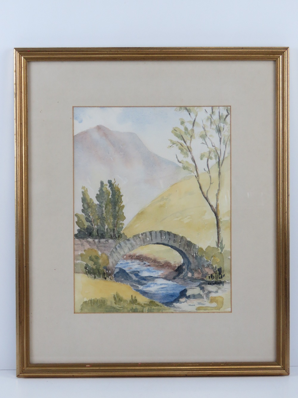 Watercolour by Eve Watson 'Pack horse br