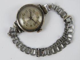 An HM silver ladies manual wristwatch, h