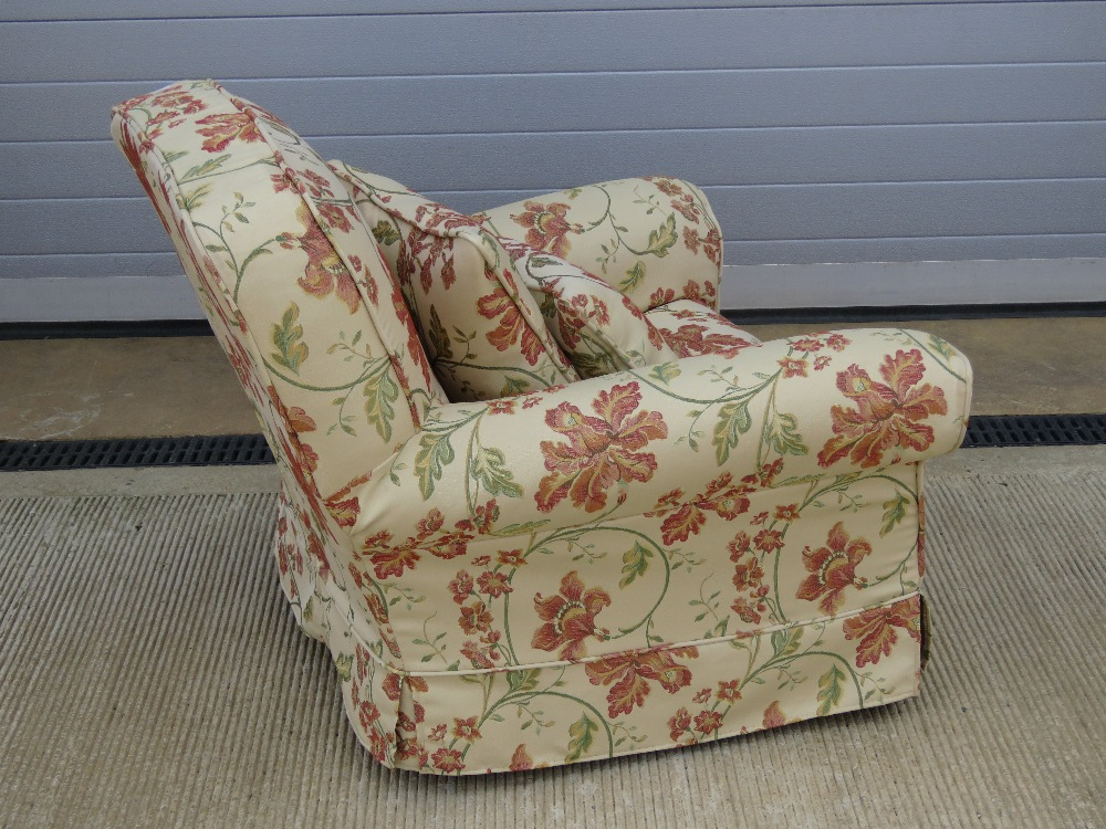 A good recovered oversprung arm chair of - Image 2 of 2
