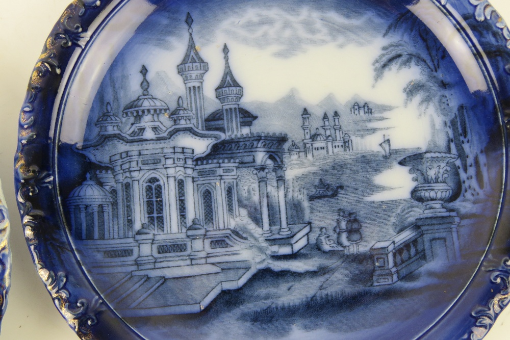 A good pair of blue and white part gilde - Image 2 of 3