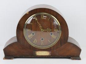 A three train striking over mantle clock