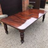 A good wind-out extending mahogany dinin