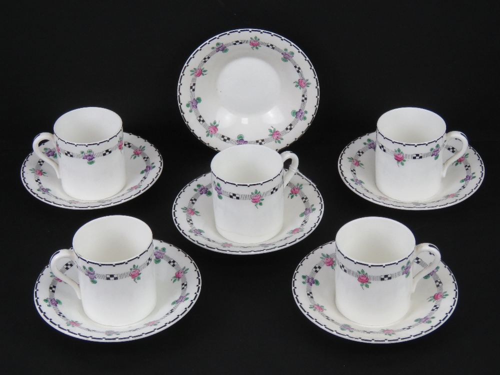 A set of Shelley coffee cans and saucers