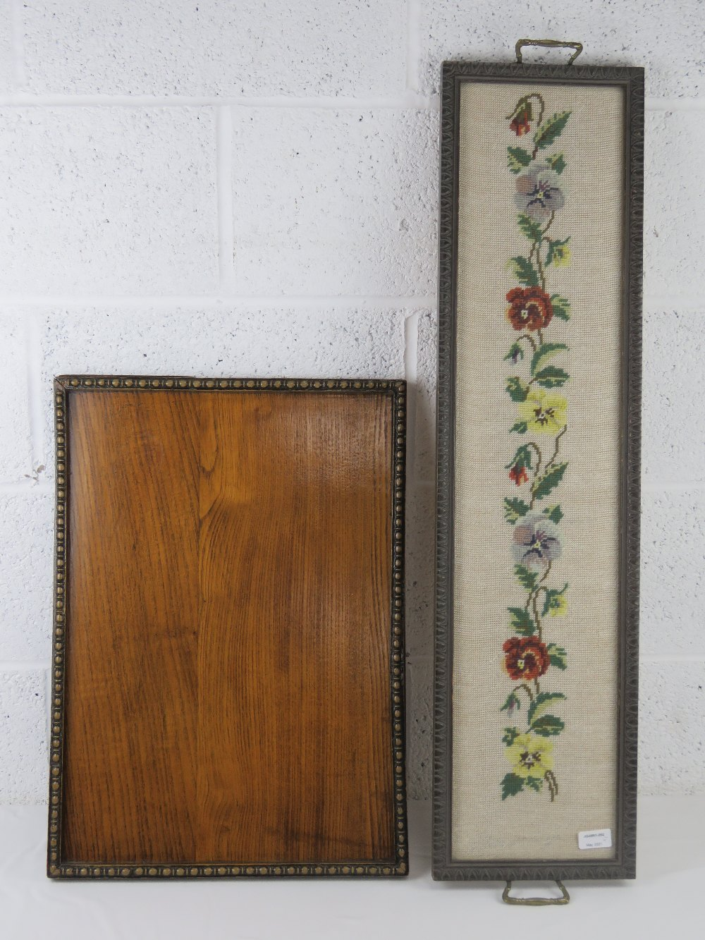 A good oak tray c1930s, measuring 58 x 4