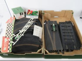 A quantity of vintage Triang Scalextric