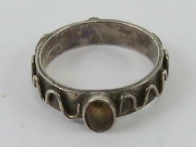 A HM silver ring in Arts and Crafts styl