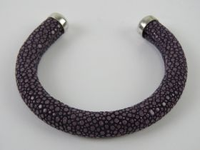 Am unusual Ray skin bangle in purple hav