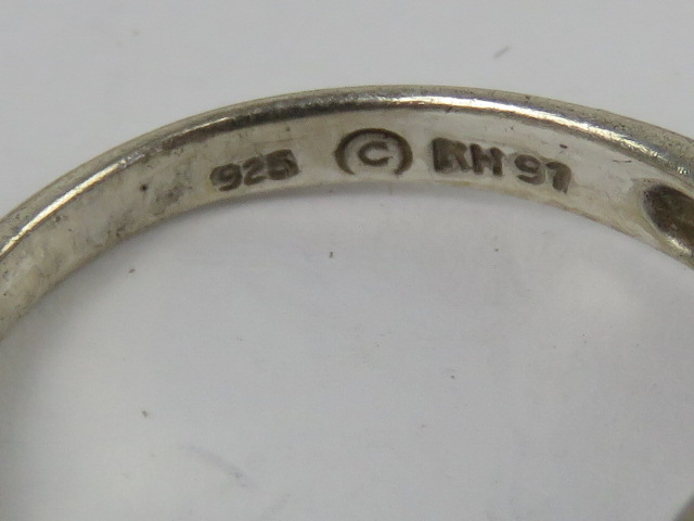A HM silver ring having inscription thro - Image 3 of 4