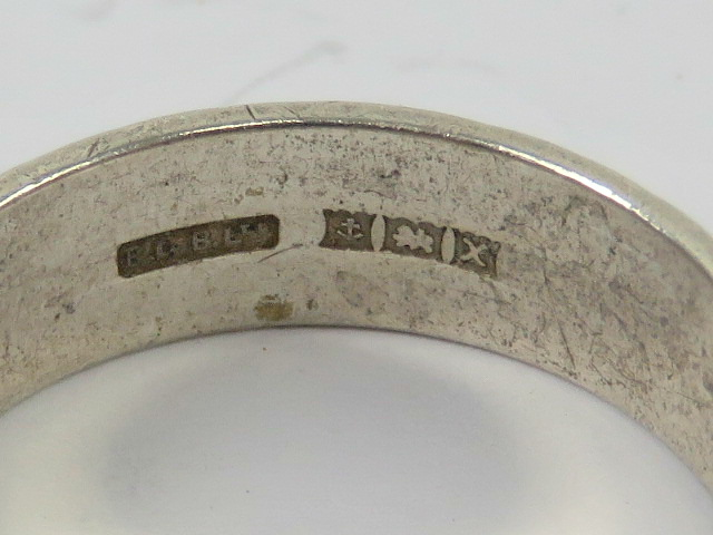 A HM silver ring having continuous engra - Image 2 of 2