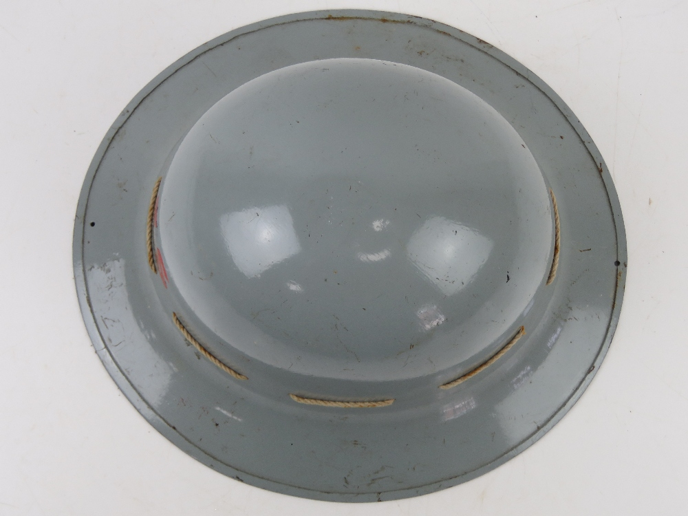 A ladies AFS helmet in grey paint with liner. - Image 2 of 7