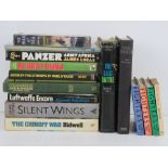 A quantity of assorted military themed books inc; 'The War at Sea' , 'Panzers in North West Europe',