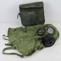 A South Korean K-1 Military gas mask in transit bag.