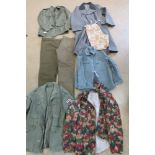 A large quantity of assorted post war military uniform inc; British and German.