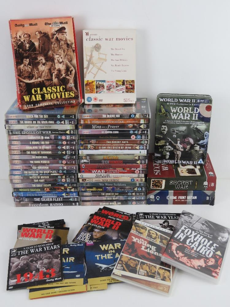 A quantity of Military / War themed dvds.