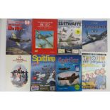 A quantity of assorted military themed books inc: 'Mantrapping', 'The Fighting Me 109',