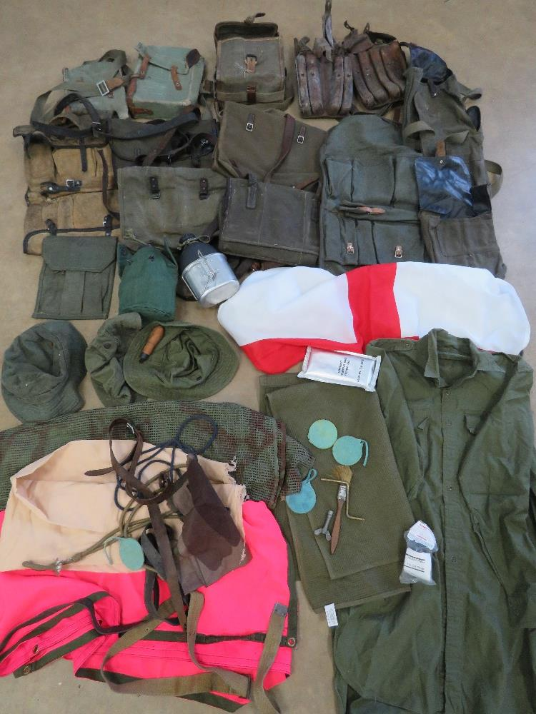 A quantity of assorted militaria, RPG pouches, PPS 43 magazine pouch, ZB26 magazine pouch,
