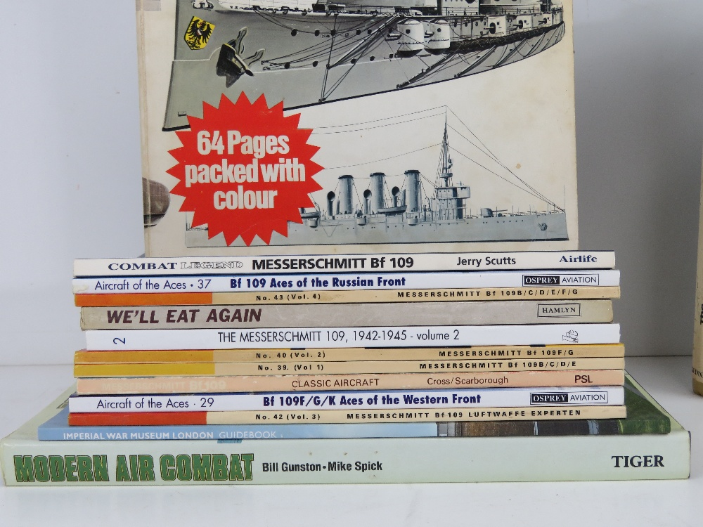 A quantity of assorted military themed books inc: 'Messerschitt bf109', 'We'll Eat Again', - Image 2 of 2