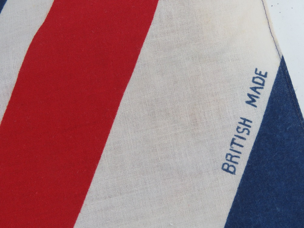 A pair of contemporary flags being Union Jack and US flag, each measuring approx 88 x 57cm. - Image 2 of 2