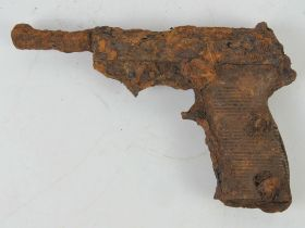 A German P38 in relic condition. Battlefield relic found in the Kurland Pocket (Latvia).